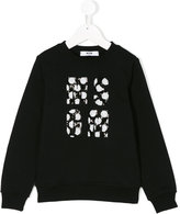 MSGM sequined logo sweatshirt
