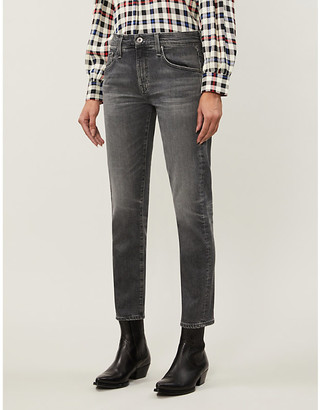 AG Jeans Ex-Boyfriend slouchy slim-fit high-rise jeans