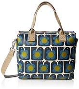 Orla Kiely Women's Love Birds Print Zip Messenger Messenger Bag