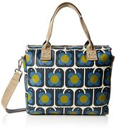 Orla Kiely Womens Love Birds Print Zip Messenger Shoulder Handbag,8.2 x 30.5 x 32.5 cm (W x H x L)