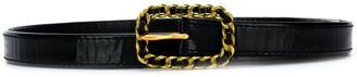Chain Buckle Skinny Belt