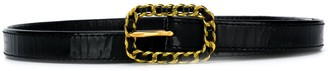 Chanel Pre Owned Chain Buckle Skinny Belt