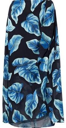 Alice + Olivia Lumi Printed Burnout Chiffon Wrap Skirt