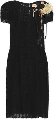 Dolce & Gabbana Appliqued Crocheted Dress
