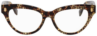 Fendi Tortoiseshell F Is Cat-Eye Glasses