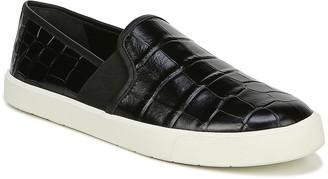 Vince Preston Croc Embossed Leather Slip-On Sneaker