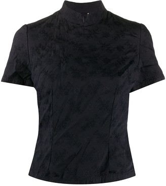 COMME DES GARÇONS GIRL floral jacquard Qipao shirt