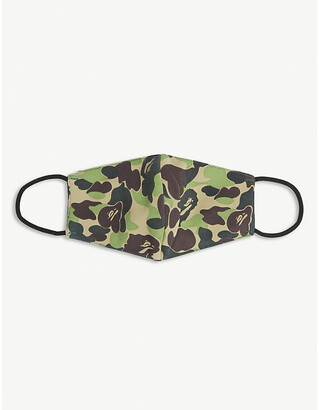 A Bathing Ape Camouflage-print woven face covering