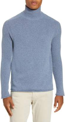 Billy Reid Regular Fit Cashmere Mock Neck Sweater