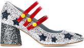 Chiara Ferragni 'Stars' Mary Jane pumps - women - PVC/Leather - 39