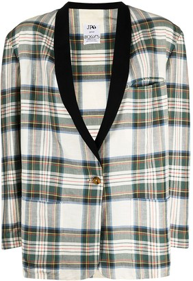 Jean Paul Gaultier Pre-Owned 1980s Tartan Check Single-Breasted Jacket