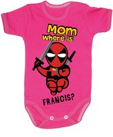 Colour Fashion Baby Deadpool Bodysuits Shortsleeve 100% Cotton 0 - 24 months 0005