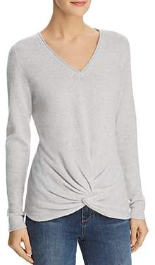 Bloomingdale's C By C by Twist-Front Cashmere Sweater - 100% Exclusive