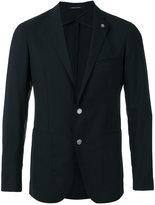 Tagliatore pin detail blazer - men - Cupro/Virgin Wool - 48