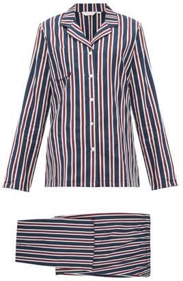 Derek Rose Royal Cotton Pyjamas - Womens - Navy