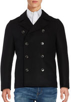 Black Brown 1826 Wool-Blend Peacoat