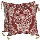 Bombay Outdoors Bombay® Outdoors Delhi Paisley Square Toss Cushion Pillow with Tassels (2-Pack)