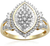 JCPenney FINE JEWELRY 1/2 CT. T.W. Diamond 10K Yellow Gold Cocktail Cluster Ring