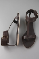 Shoes Flat Thong with Posted Ankle Strap