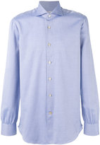 Kiton micro-print shirt - men - Cotton - 39