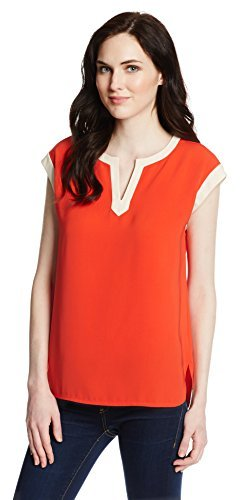 Jones New York Women's Short Sleeve Colorblock Tunic-Mandarin