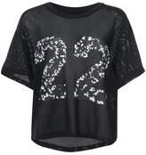 Amiri number mesh T-shirt