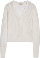 3.1 Phillip Lim Ruffle-trimmed open-knit wool-blend cardigan
