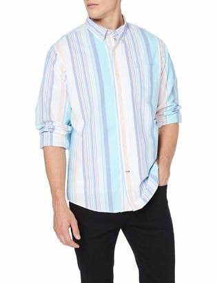 Izod Men's Oxford Multi Stripe BD Shirt Casual