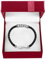 Effy Gento Sterling Silver and Leather Bracelet