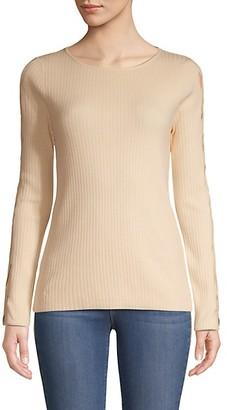 Love Token Cutout Long-Sleeve Sweater