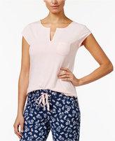 Alfani Split-Neck Pajama Top, Only at Macy's