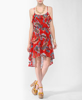 High-Low Paisley Print Dress