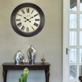 La Crosse Technology 23 in. H Round Brown Antique Dial Analog Wall Clock with Roman Numerals