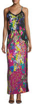 Etro Printed Jersey Strappy Slip Gown