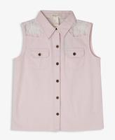 Forever 21 girls Lace Yoke Sleeveless Shirt