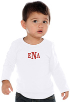 Princess Linens White Monogram Long-Sleeve Tee - Infant & Boys
