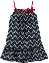 Osh Kosh Toddler Girl Patterned Smocked Dress