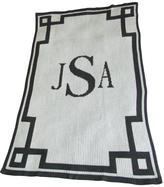 Regency Monogram Blanket