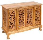 Exp 39-Inch Handmade Flower Vines Storage Cabinet/Sideboard Buffet, Natural Brown