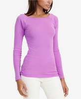 Lauren Ralph Lauren Petite Stretch Ballet Neck Shirt