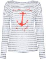Oui Stripe anchor tee