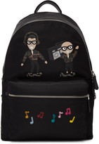 Dolce & Gabbana Black Nylon Designers and Music Backpack