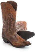 Laredo Distressed Leather Cowboy Boots - Snip Toe (For Women)