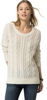 Tommy Hilfiger Sheer Wool Cableknit Sweater
