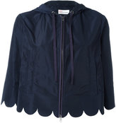 RED Valentino zip up cropped jacket - women - Cotton/Polyester - 44
