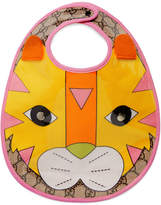 Gucci Kids Baby tiger motif bib