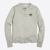 J.Crew Factory Embroidered bee Caryn cardigan sweater