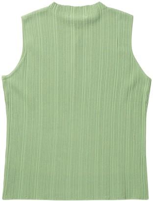 T Tahari Rib Knit Sleeveless Shirt (Petite)