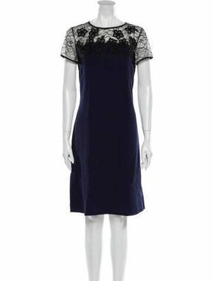 Oscar de la Renta 2017 Knee-Length Dress Wool