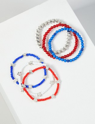 Lane Bryant 6-Row Star Beaded Bracelet Set